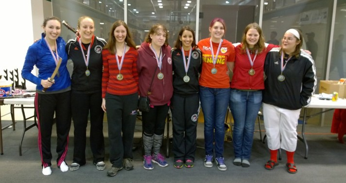 Sioux City Women's Epee medalists