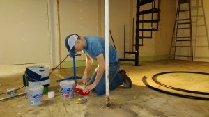 Jim does drywall work