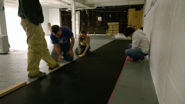 Getting the floor straight.