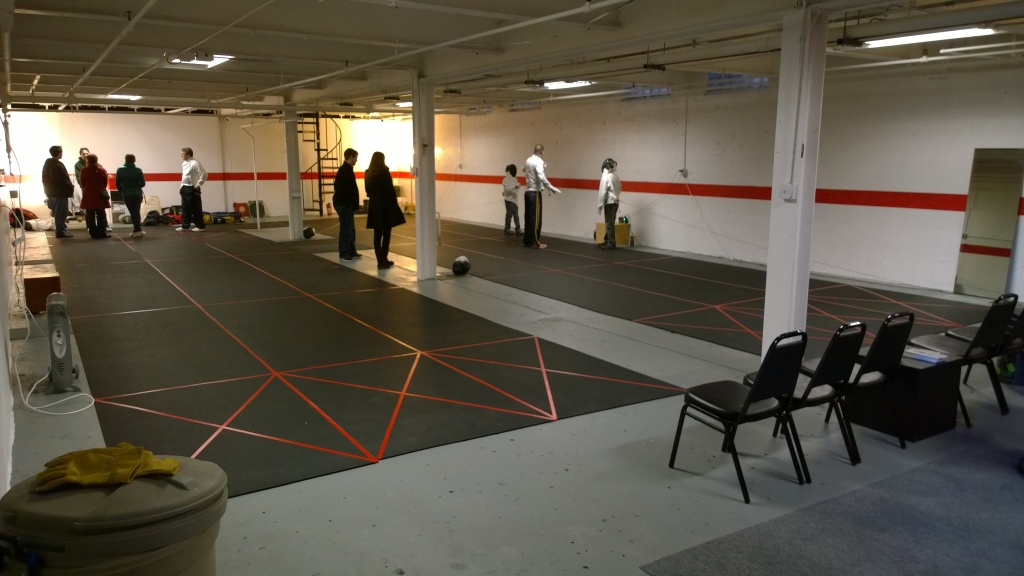 Fencing at the Open House on Saturday