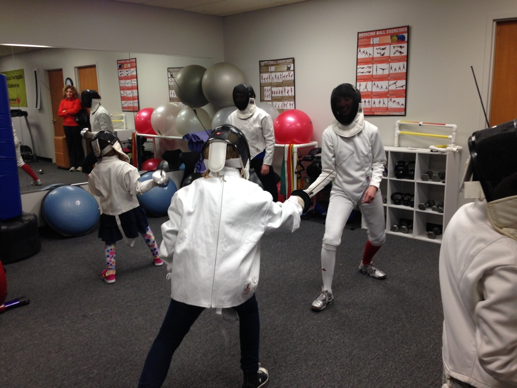 Fencing girls at Courage League