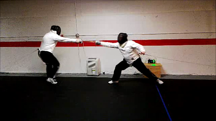 Mike and Lance fencing