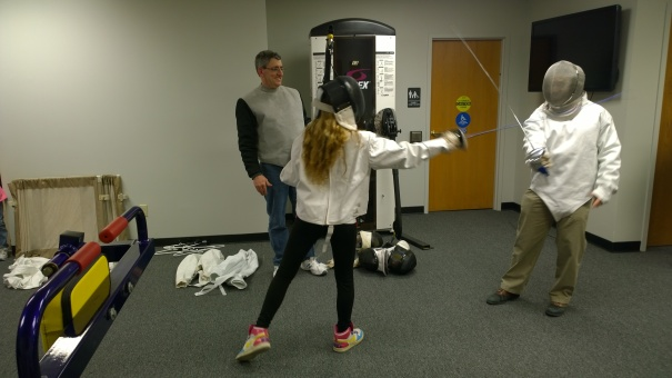 Father-daughter saber battle at Courage League