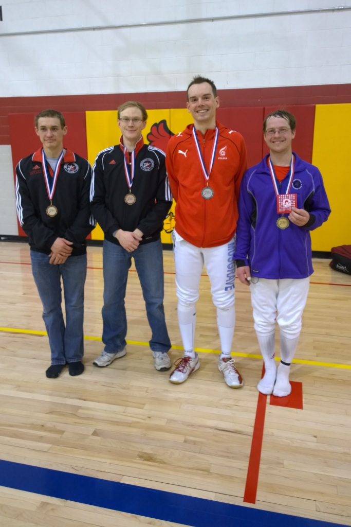 mixed epee medalists Frosty 2014