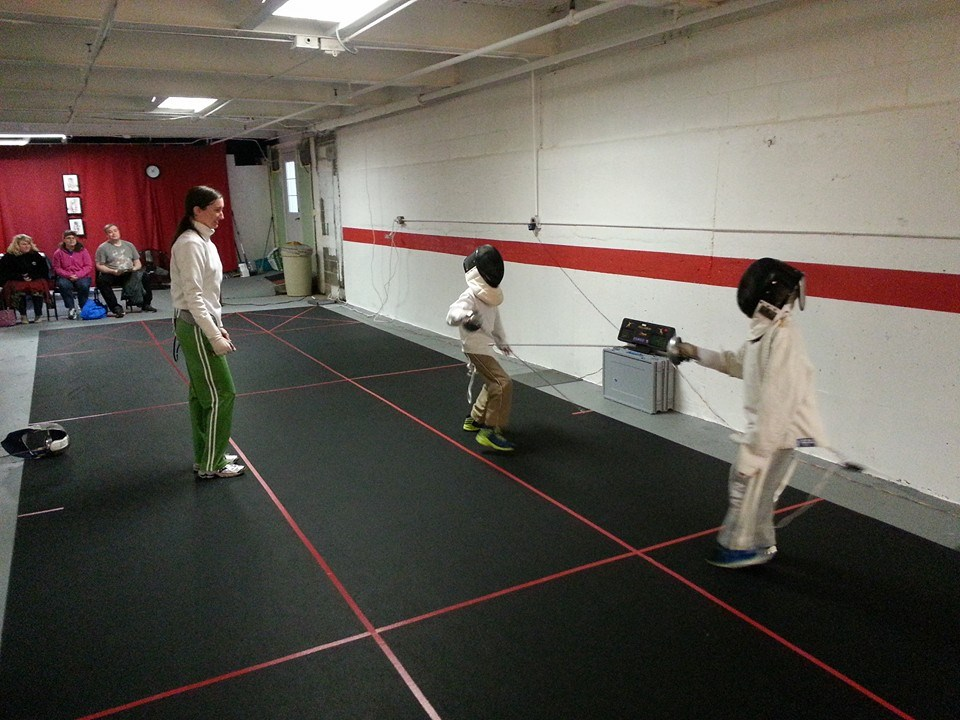 Young fencers first bout