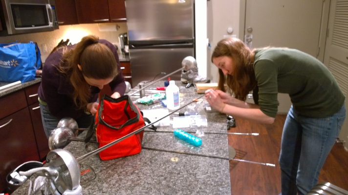Julia and Sarah get their weapons all tuned up in Dallas