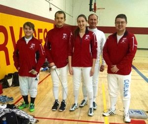RDF fencers lookin' snazzy in their new jackets at the Frosty Open.