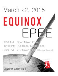 Equinox Epee flier