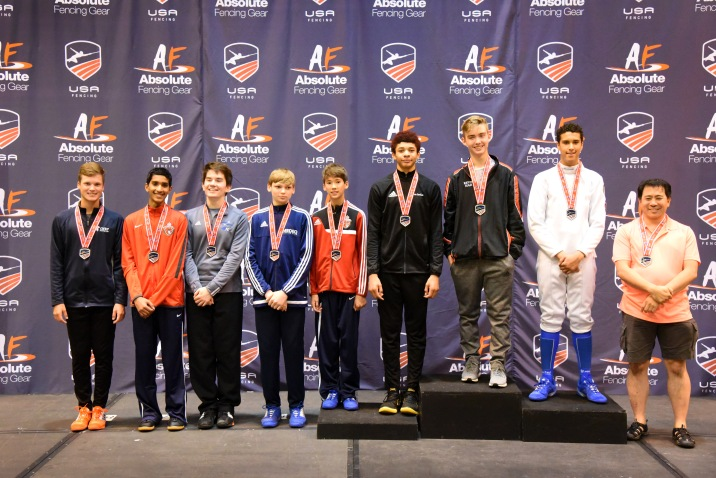 Jared earns the 8th place medal in Div 3 Men's Epee at Summer Nationals in St. Louis.