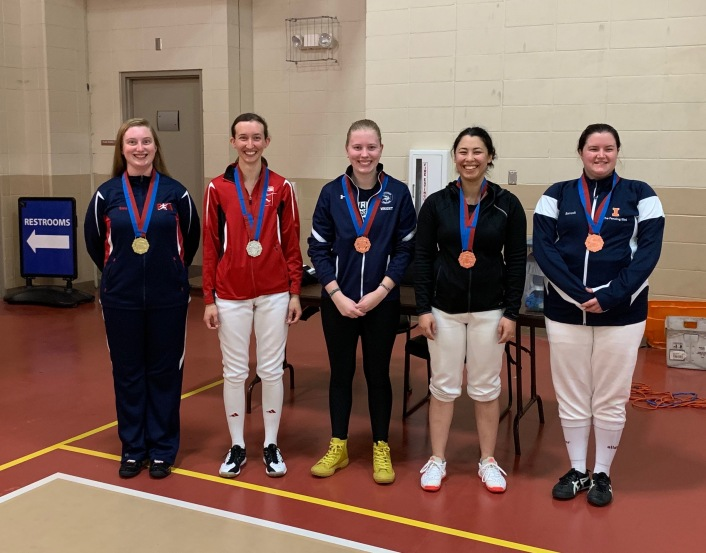 Div 2 Women's Epee medalists