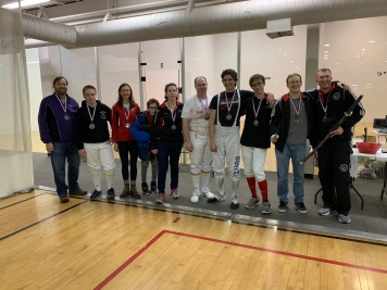 Mixed Epee medalists - Sarah finished 7th