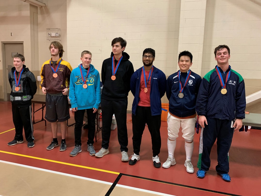 Colin takes 5th in Junior Men's Epee