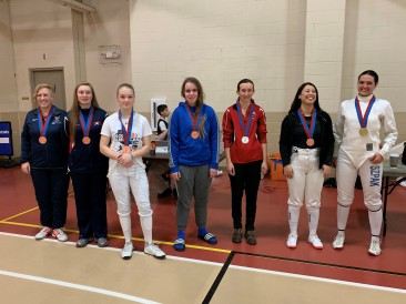 Div 1A Women's Epee medalists