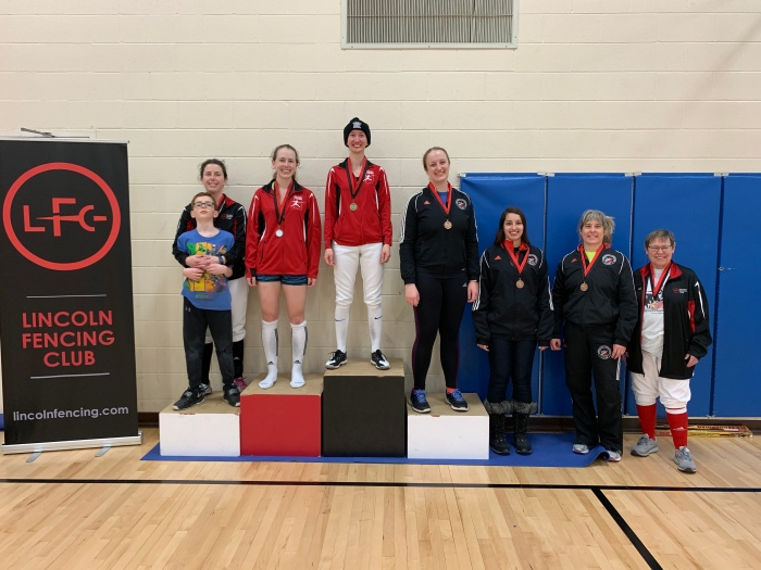 Women's Epee medalists