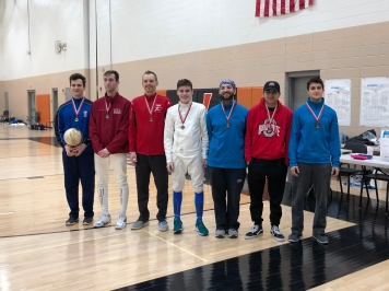 Open Mixed Epee medalists