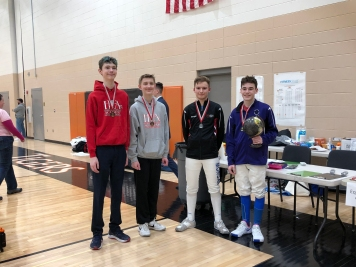 Y14 Epee medalists
