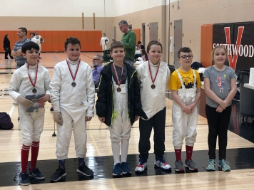 Y10 Epee medalists