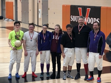 D & Under Epee medalists