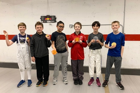 Y12/Y10 Mixed Epee medalists (minus 2)