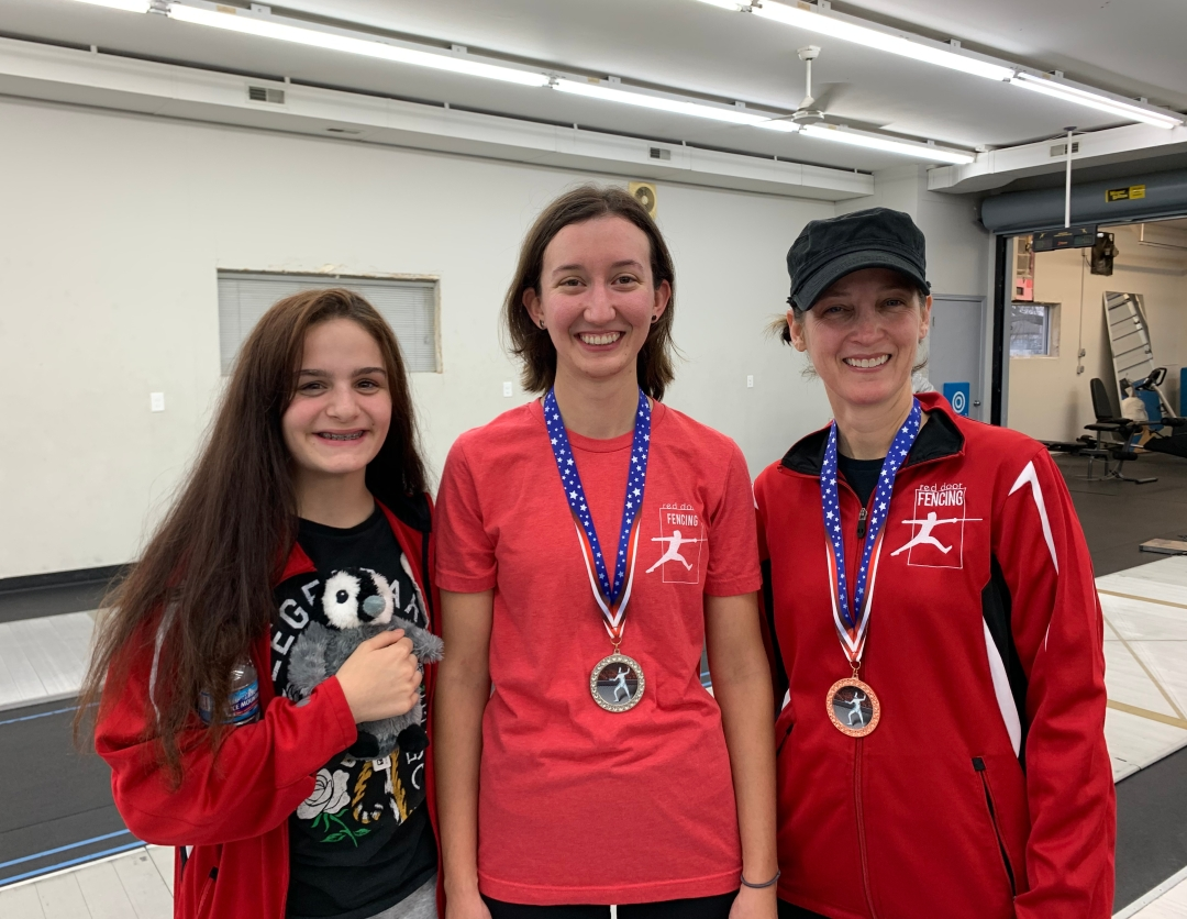 Rilee, Sarah, and Cheryl at the 2019 Glitter Open
