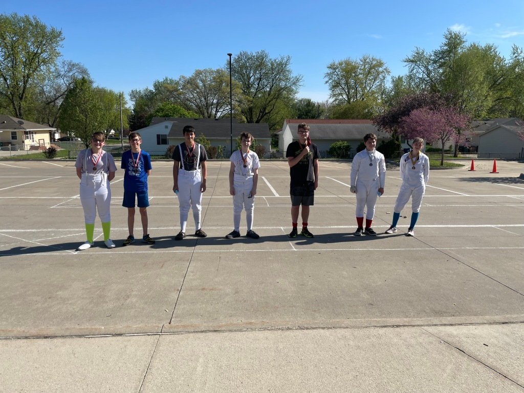 Cadet mixed epee medalists